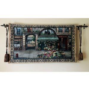 French Flower Market Tapestry, Finial & Tassels
